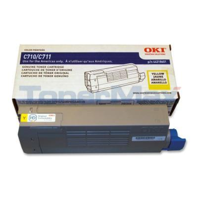 OKI C711 TONER CARTRIDGE YELLOW